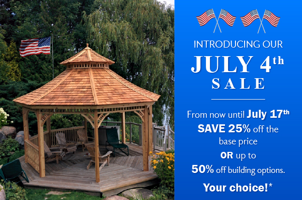Summerwood 4th of July Sale Save 25%