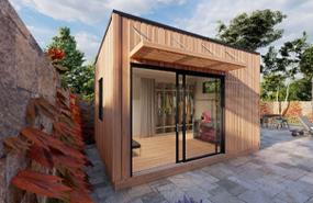 Summerwood Products Home Office Studio 12' x 14' Quadra
