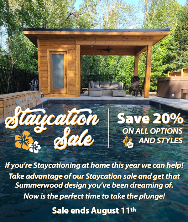 Staycation Sale Save 20% on styles and options