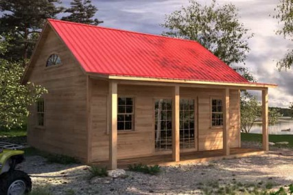 Small cabin kits with loft joy studio design gallery for Guest cabin kits