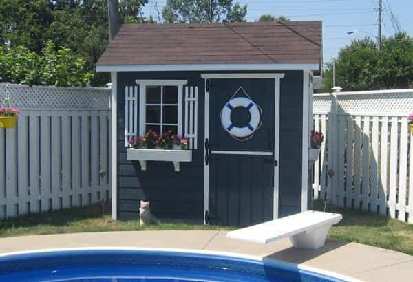 Modern and classic pool cabana kits get yours today for Shed into pool house