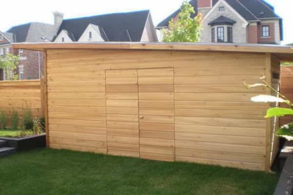Build a wooden picnic table cedar shed kits ottawa for Garden shed regulations