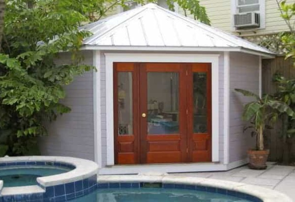 Canexel Catalina Backyard Studio Summerwood ID number 1045. Modern and Classic Pool House Kits   Get One Today
