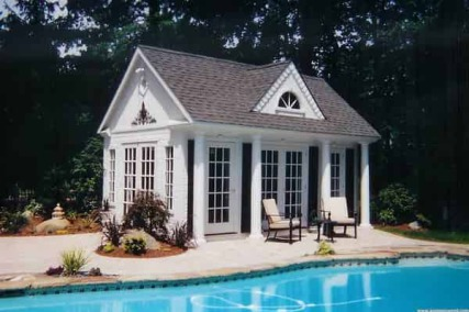 Pool house blueprints home design and decor reviews for Modular pool house