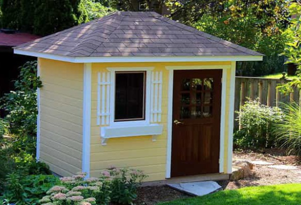 delighful garden sheds shed with white trim child idea via perfect - Garden Sheds 7x6