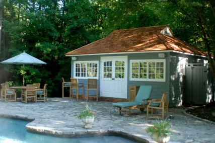 Pool House Plans on Pool House Cabanas By Summerwood    Custom Prefab Pool House Kits