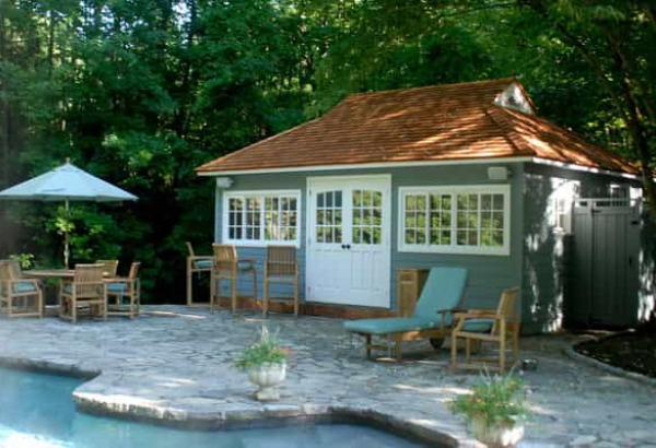 Cedar Santa Cruz Pool Houses Summerwood ID number 32158. Modern and Classic Pool House Kits   Get One Today
