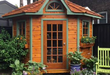 its the perfect corner garden shed with five sides and soaring interior space ideal for bikes garden tools and pool accessories - Corner Garden Sheds 7x7