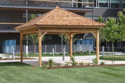 Free gazebo building plans floor plans for Gazebo house plans