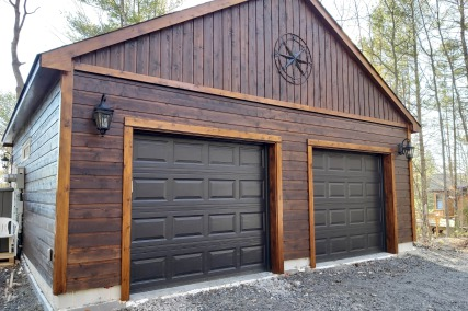 Contemporary traditional garages summerwood for Pre built garage with apartment