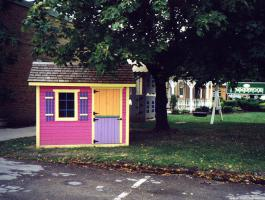 Bear Club Playhouse with planed cedar Summerwood ID number 104.