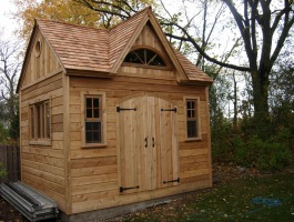 Cedar Telluride Shed 10x12 with dormer in Chicago, Illinois. ID number 105267.