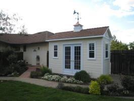 Cedar Palmerston shed 6x14 with French double doors in Roseville, California. ID number 109757.