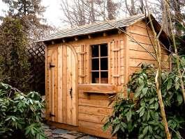 Bar Harbor garden shed with cedar in Amityville, New York. ID number 1254.