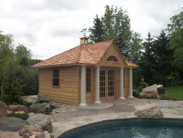 Sonoma Pool Cabana with cedar Summerwood ID number 129916.