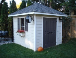 Cedar Sonoma shed 8x8 with double doors in Mississauga, Ontario. ID number 136820.