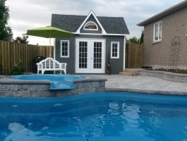 Copper Creek Prefab Pool House with cedar Summerwood ID number 178100.