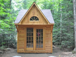 Prefab bunkie 10 x 10 with french doors in Wood Lake Ontario. Summerwood ID number 180626