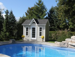 Copper creek pool cabanas summerwood products for Modular pool house