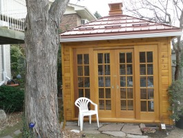 Cedar Sonoma Garden Shed 10 x 10 with double french doors in Toronto Ontario. ID number 183172