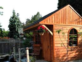 Cedar Glen Echo Garden Shed 10x10 with flower boxes in Collingwood, Ontario. ID number 191583