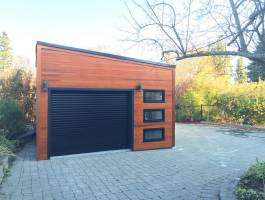 Urban Garage Urban Garage Design with planed cedar Summerwood ID number 194264.