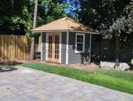 Canexel Sonoma shed 8x8 with French double doors in Mississauga, Ontario. ID number 194280