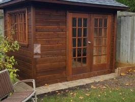 Small Cedar Sonoma shed 7x10 with French double doors in Don Mills, Ontario. ID number 195924