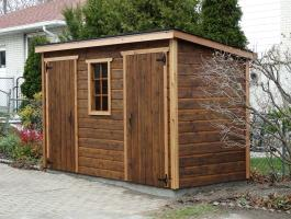 Cedar Sarawak lean to shed 5x12 with fixed window in Toronto, Ontario. ID number 195929.