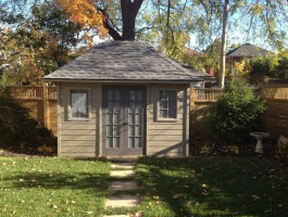 Cedar Sonoma shed kit 8x12 with French double doors in Toronto, Ontario. ID number 195951