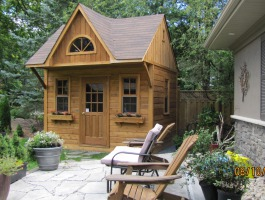 Custom Glen Echo cabin Kit 9 x 12 with 3ft front overhang in Toronto Ontario. ID number 206123