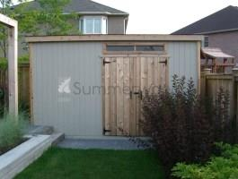 Canexel Sarawak 7x14 shed kit with double doors in Oakville, Ontario. ID number 210527.