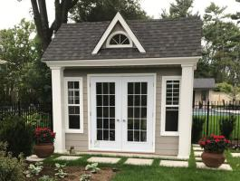 9f x 12ft Windsor Garden Shed was erected in Oakvile, Ontario.