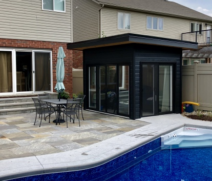 Canexel Verana 8x11 shed kit with Patio Doors in Guelph Ontario. ID number 221370