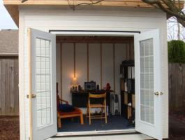 White Urban Studio with French doors Summerwood ID number 221425.