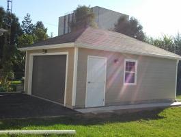 Archer garages single door garage prefabricated garage for 16x24 garage kit