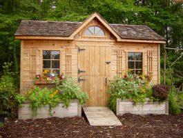 Palmerston Garden shed designs with planed cedar Summerwood ID number 454.