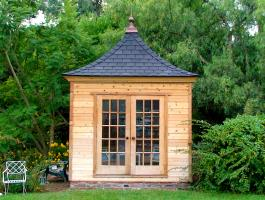 Cedar Melbourne Garden Shed 10 x 10 with double doors in Louisville, Kentucky. ID number 47668.