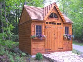 Telluride Garden Shed 10 x 14 with double doors in Dervish Ohio. ID number 532