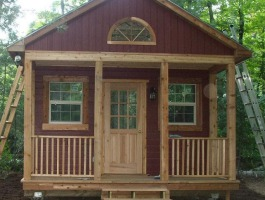 Mountain Brook red Cabin with canexel Summerwood ID number 801.