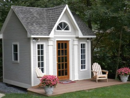Cedar Copper Creek shed 10 x 12 with cedar pilaster in Andover, Massachusetts. ID number 90356.