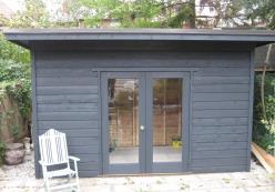 Urban studio built in sheds summerwood sheds kits for Windsor garden studio
