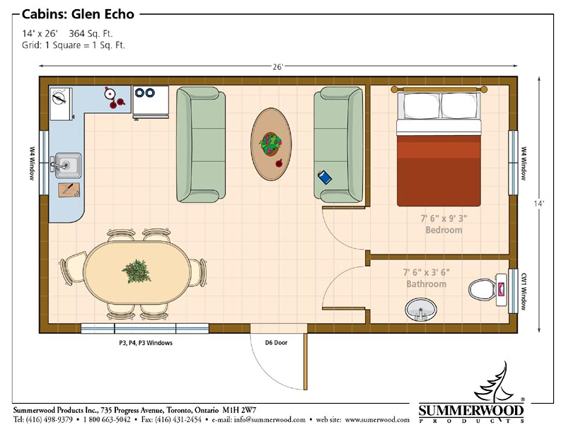 Floor plan for Tiny house blueprint maker