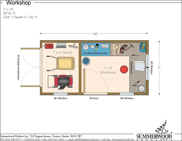 Garden Sheds 7 X 14 floor_plans_7x14-workshops