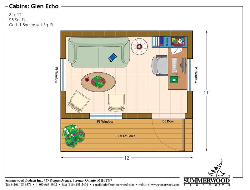8x12 on 14x28 Tiny House Floor Plans No Loft