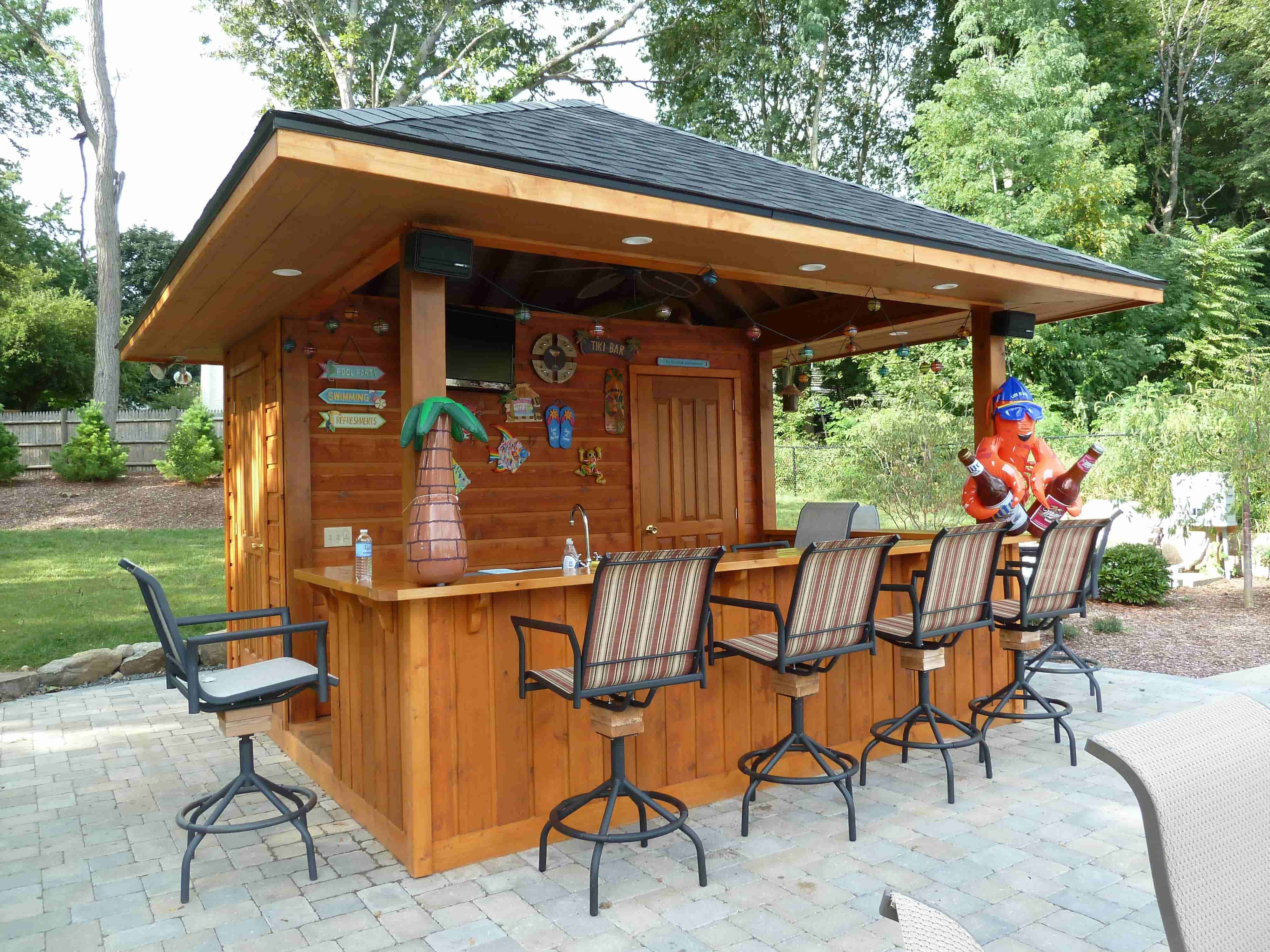 ... Garden Design With Out Door Yard Shed Bars  /NEWWesternBackyardOutdoorCabana With Designing A Garden From Pinterest
