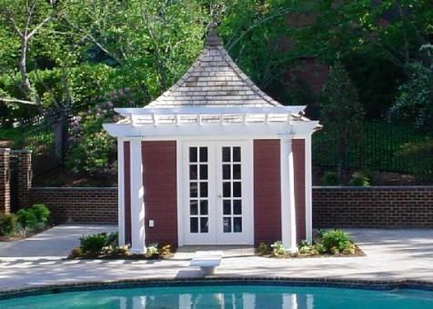 Melbourne white Garden Shed with french double doors in Lorton, Virginia. ID number 28775-1