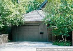 Cedar archer garage designs 12x20 with mixed panel single window mahagony garage door in Toronto,Ont