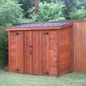 Cedar Sarawak shed 4x8 with standard double doors in Dallas, Texas. ID number 34661-1
