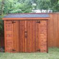 Cedar Sarawak shed 4x8 with standard double doors in Dallas, Texas. ID number 34661-2